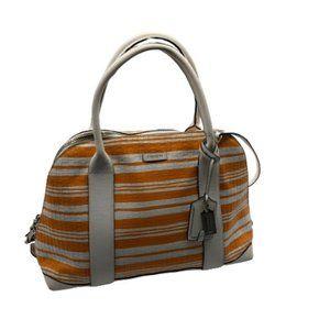 Coach Leather Striped Bag Handbag or Long Strap